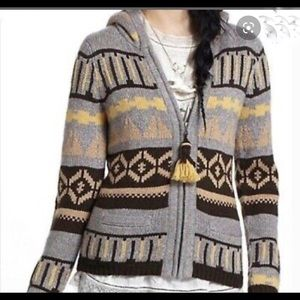Anthropologie Sparrow Aztec Tribal Knit Full Zip